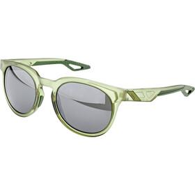 100% Campo Okulary, matte translucent olive slate/black mirror